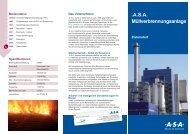 Prospekt Thermische Abfallbehandlung Zistersdorf (pdf) - ASA