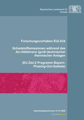 Forschungsvorhaben EULV24 ... - UOK - Bayern