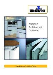 Aluminium Griffleisten und Griffmulden - Ziegelmüller Beschlagtechnik