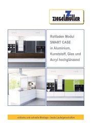 Rollladen Modul SMART CASE in Aluminium, Kunststoff, Glas und ...