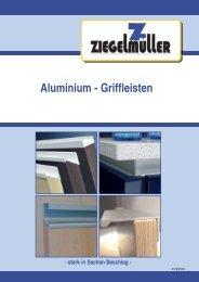 Aluminium - Griffleisten