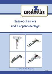 Salice-Scharniere und Klappenbeschläge - Ziegelmüller ...