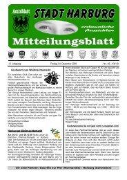 12. Jahrgang Freitag, 04. Dezember 2009 Nr.: 49 – KW 49 ... - Harburg