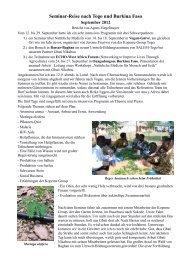 Seminar-Reise nach Togo und Burkina Faso - Anamed