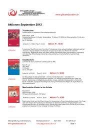 Aktionen September 2012 - Stiftung Bildung und Entwicklung
