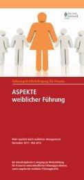 ASPEKTE weiblicher Führung - zlb.at