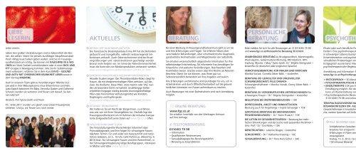 FEBRUAR BIS AUGUST 2012 INFORMATION PROGRAMM