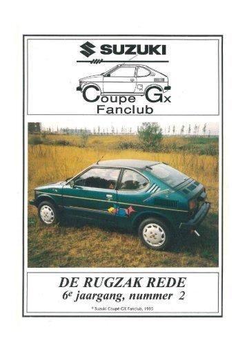 Page 1 6@ jaargang, nummer 2 Suzuki Coupé GX Fanclub, 1995 ...
