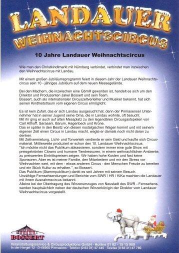 10 Jahre Landauer Weihnachtscircus