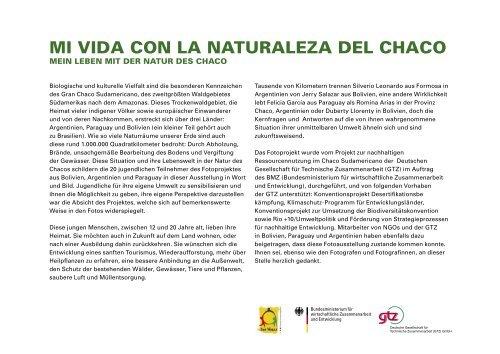 MI VIDA CON LA NATURALEZA DEL CHACO