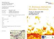 19. Biomasse-Nahwärme Betreiber-Stammtisch