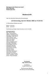 Protokoll der GR-Sitzung vom 29.10.2009 - Biedermannsdorf