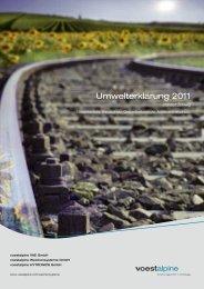 Umwelterklärung 2011 (2,64 MB) - voestalpine