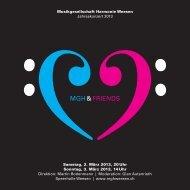 Programm «MGH & Friends - Musikgesellschaft Harmonie Weesen