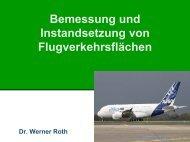 Bemessung und Instandsetzung von Flugverkehrsflächen - Gestrata