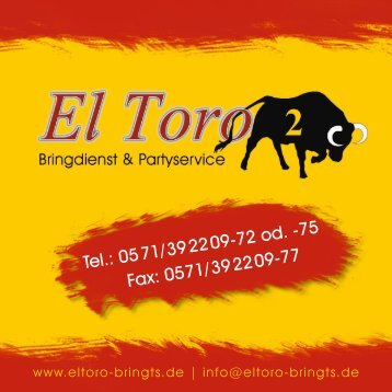 El Toro Minden 2012 Design