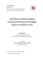 Evaluierung der Nutzung von Social Tagging - E-LIS