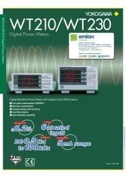 WT210/WT230 Digital Power Meters - emitec-industrial.ch