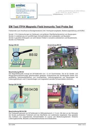 EM Test ITP/H Magnetic Field Immunity Test Probe Set - emitec ...