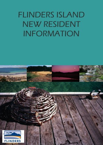Flinders island new resident information - Flinders Council