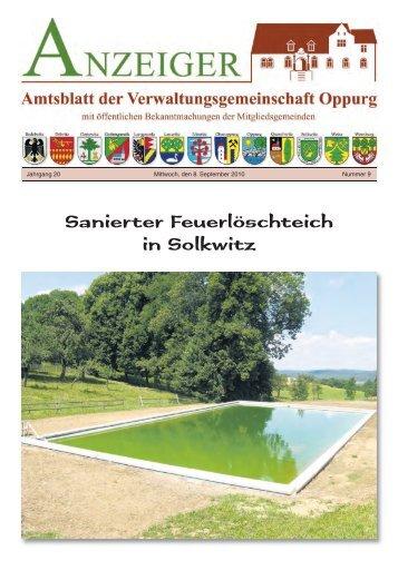 Sanierter Feuerlöschteich in Solkwitz - VG Oppurg