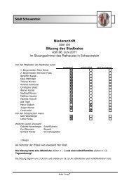Niederschrift Sitzung des Stadtrates - Schauenstein