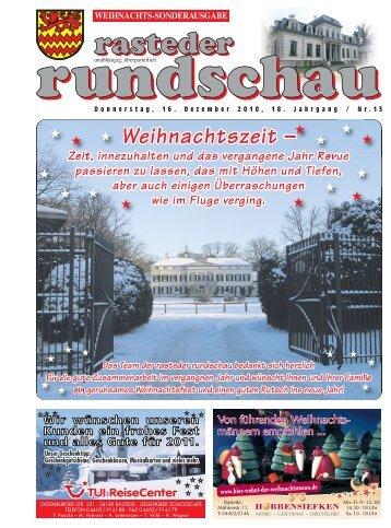 rasteder rundschau, Sonder-Ausgabe Weihnachten 2010