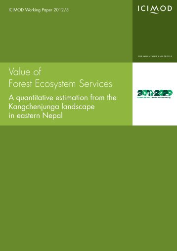 Value of Forest Ecosystem Services - ICIMOD Books-online