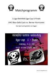 Matchprogramm - UHC Blau Gelb Cazis