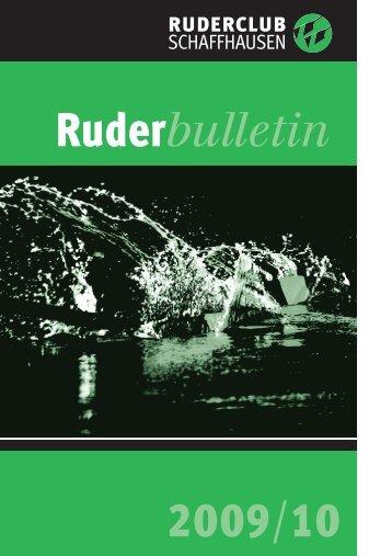 Bulletin 198 Mai 2009 - beim Ruderclub Schaffhausen
