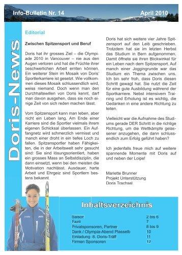Info-Bulletin Nr. 14 - Doris Trachsel
