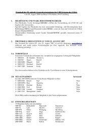 Protokoll 39. GV / 2008 - UHF-Gruppe der USKA