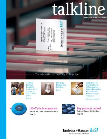 Endress+Hauser InDesign CS2 Template - Endress+Hauser Canada