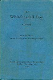 Community Players program for 1934 production of - Home Page of ...