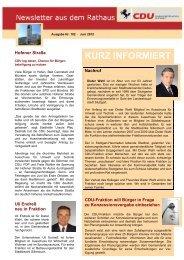 Newsletter Ausgabe Juni 2012 herunterladen - CDU Stuttgart