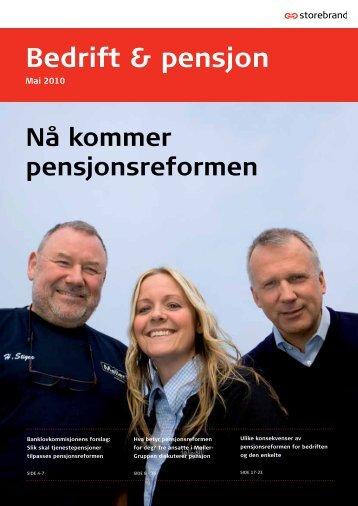Bedrift & pensjon (mai 2010) - Storebrand