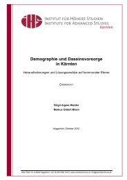 Demographie und Daseinsvorsorge in Kärnten