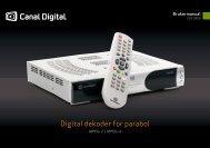 Brukerveiledning - Canal Digital Parabol