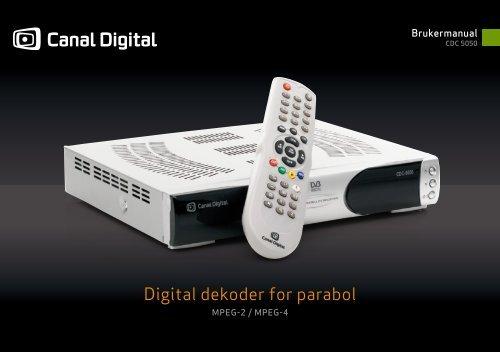 Innstilling Parabol Canal Digital