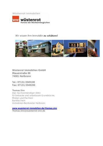 Wüstenrot Immobilien GmbH Mauerstraße 88 74081 ... - onOffice