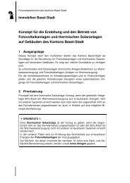 RRG 4 Konzept Fotovoltaik - Immobilien Basel-Stadt