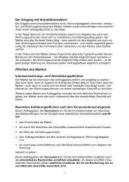 Der Umgang mit Immobilienmaklern Pflichten des Maklers - AK - Tirol