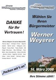 Werner Weyerer Werner Weyerer - FWG Aschau