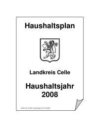 Haushaltsplan 2008 - Landkreis Celle