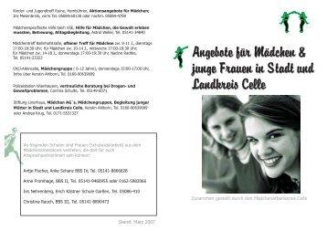 Angebote für Mädchen && junge Frauen in Stadt ... - Landkreis Celle