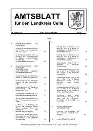 AMTSBLATT - Landkreis Celle
