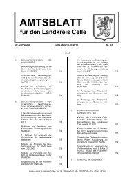 Amtsblatt 13-2011 - Landkreis Celle