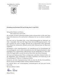 Einladungsschreiben Landrat - Landkreis Celle