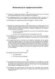 Mustersatzung für Jagdgenossenschaften - Landkreis Celle
