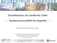 Grundwasser im Landkreis Celle - Geowissenschaftliche Aspekte